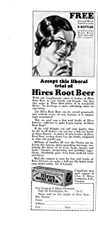 1931 Hires Root Beer Extract -Trial Sample 30 Cents -Original Magazine Ad-Bottle