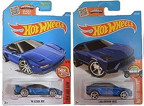 Hot Wheels 2016 Candy Blue 1990 Acura NSX & Lamborghini Urus 2-Car Set