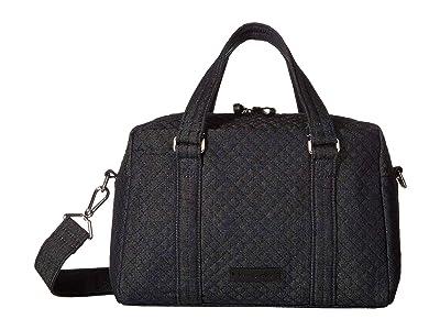 Vera Bradley 100 Handbag (Denim Navy) Satchel Handbags