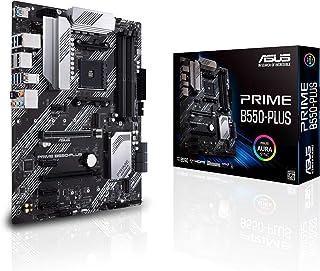 ASUS PRIME B550-PLUS - Placa base ATX AMD AM4 con disipación VRM MOS, PCIe 4.0, doble M.2, 1 GB LAN, HDMI/DP, SATA 6 Gbps,...