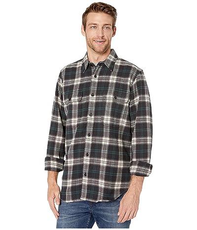 Filson Vintage Flannel Work Shirt (Black/Teal/Cream) Men