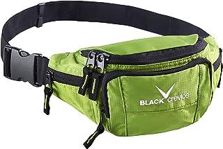 Black Crevice Hüfttasche I Bauchtasche für Herren & Damen I Verstellbarer Hüftgurt I gepolstertes Rückenteil I robuste Gür...