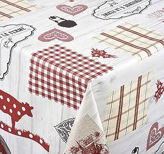 Venilia Nappe Linge de Table Toile cirée Maintenance réduite hydrophobes, Polyester, PVC, Rondes, x 140cm, 55058, Country...