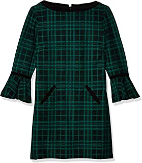 Tahari by Arthur S. Levine Women's Petite Size Plaid Dress W/Detail On Sleeve and Pockets