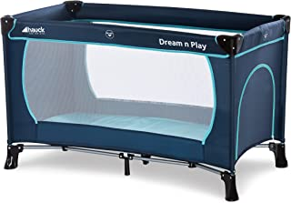 Hauck Dream'N Play Plus Travel Bed 0M+ to 15kg-Navy Aqua, 1 of Piece, 1 of Piece, 603666