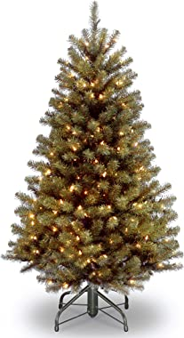 National Tree Company Pre-lit Artificial Christmas Tree | Includes Pre-strung White Lights and Stand | North Valley Spruce -