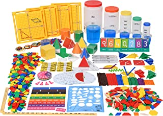 edx education Classroom Math Kit - For Grades 5 and 6 - Teach Math Lessons - Includes 16 Versatile Teaching Resources and Manipulatives