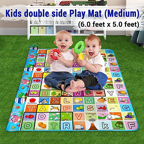 f37d0981cd05 Ozoy Double Sided Water Proof Baby Mat Carpet for Kids (Assorted Colors and  Design)
