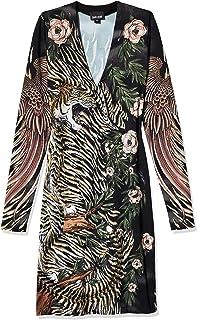 Just Cavalli womens Just Cavalli Womens Clash Of Nature Print Dress Casual Dress