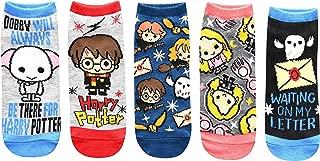 Dobby Luna Lovegood Hedwig Juniors/Womens 5 Pack Ankle Socks Size 4-10