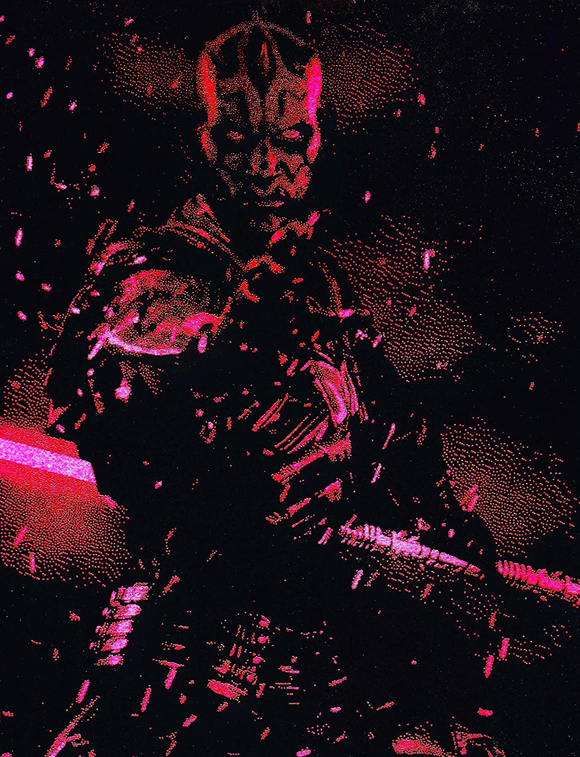 Darth Maul Lightsaber Metal Painting Pain Max 64% OFF Star Poster Spray Wars Topics on TV