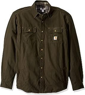 Men's Big & Tall Weathered Canvas Shirt Jac Snap Front