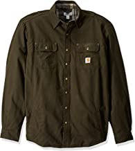 Carhartt Men's Big & Tall Weathered Canvas Shirt Jac Snap Front