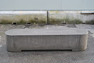 ARTISTICA GRANILLO Banco de hormigón con inerti de Piedra volcánica, 200x 50H43cm.