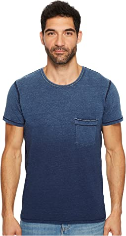 7 For All Mankind - Short Sleeve Indigo Raw Pocket Crew