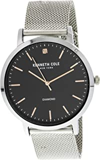 Kenneth Cole Mens Quartz Watch, Analog Display and Stainless Steel Strap KCC0120005