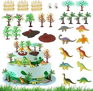 30pcs Dinosaur Trees Dinosaur Cake Toppers Model Trees Cake Decorating Kit Dinosaur Toys for Cake Toppers with Model Palm ...
