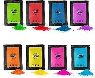 Packung 800 g Pulver Holi - 8 Beutel à 100 g. - 8 Farben