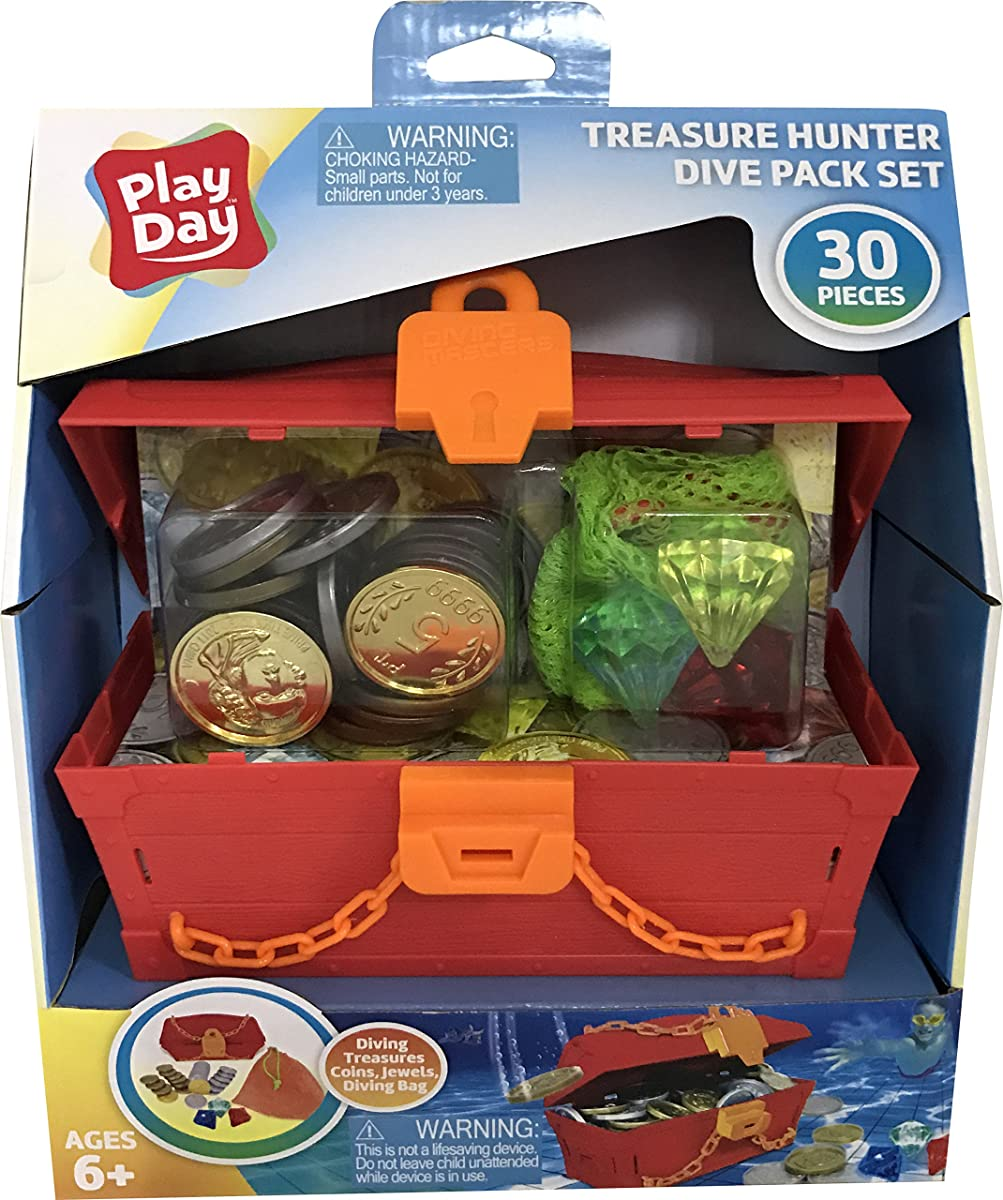 Play Day Treasure Hunter 30-Piece Under Water Swimming Pool Dive Set