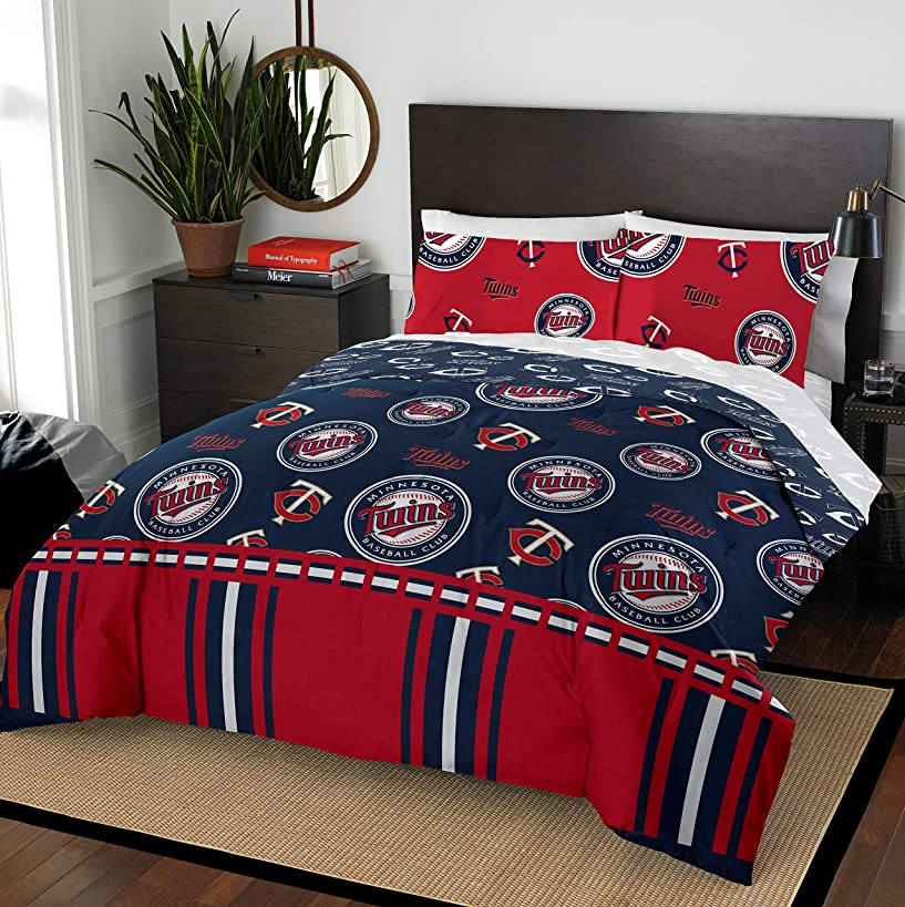 The Northwest Company MLB Minnesota Twins Queen Bed in a Bag Complete Bedding Set #311005905