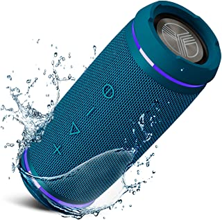 TREBLAB HD77 Blue - Premium Bluetooth Portable Speaker - 360° HD Surround Sound - Wireless Dual Pairing - 25W of Stereo So...