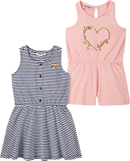 Juicy Couture Girls' 2 Pieces Pack Romper and Dress