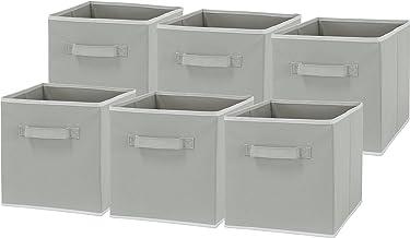SimpleHouseware saklama kabı, katlanabilir, küp şeklinde, gri, 6 adet