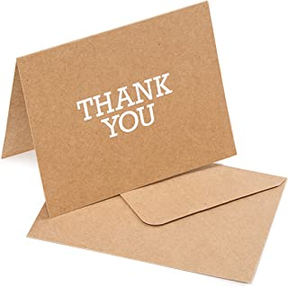 Darice Natural Kraft A2 Sized Thank you Cards