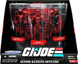 G.I. Joe 25th Anniversary: Senior Ranking Officers Action Figure 3-Pack: Cobra Commander, Crimson Guard Officer & Crimson Guard Trooper