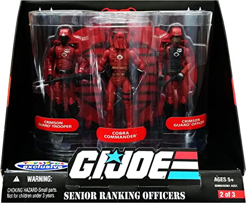 ordenar ahora G.I. Joe Joe Joe Exclusive Senior Ranking Officers Action Figure 3-Pack Crimson Guard Trooper, Cobra Commander & Crimson Guard Officer by Hasbro  echa un vistazo a los más baratos