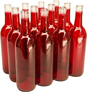 red glass wine bottles suppliers