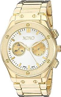 اكس او اكس او ساعة كوارتز للنساء مع سوار من المعدن، درجتين، 21 (XO288)