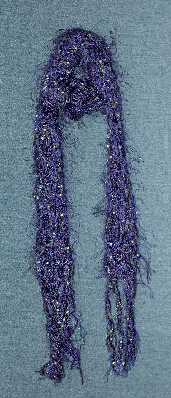 Women's Washington Mall Scarf Colorado Springs Mall Delicate Lacy Hand Purple Knit