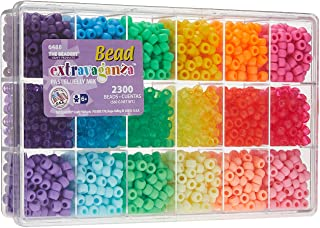 Beadery B6488 Plastic Extravaganza Bead Box Kit 19.75 oz Pastel and Jelly