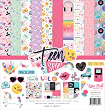 Echo Park Paper Company TSG184016 Teen Spirit Girl Collection Kit Paper, Pink, Purple, Teal, Black