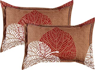 VAS COLLECTIONS® 220 TC 100% Cotton King Size Pillow Covers/Cases with Zig-Zag Stitching,Set of 2 pcs (20X30 inches) (Brow...