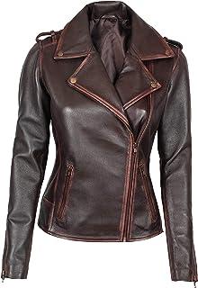 Decrum Women Leather Jacket - Real Lambskin Leather Jackets for Women