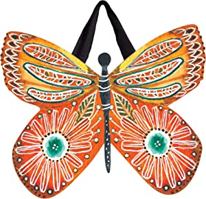 """Studio M Door Decor Butterfly Blossoms Decorative Front Door Sign with Ribbon Hanger, Durable Fade Resistant PVC, Made in The USA, 18""""w x 16.5""""h"""
