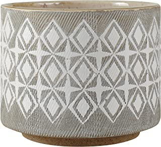 Rivet Geometric Ceramic Planter, 4.1
