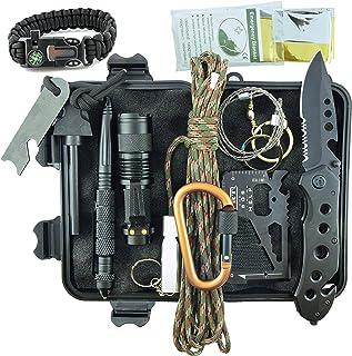 Kit Sopravvivenza Militare Professionale di Terza Generazione Emergenza Montagna Trekking Escursionismo Outdoor 11 in 1 To...