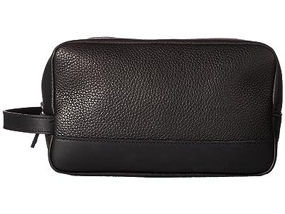 Shinola Detroit Zip Travel Kit (Black) Wallet