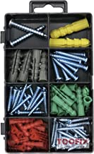 Drywall and Hollow-wall Anchor Assortment Kit, Screws, Wall Anchors, 100 Pack
