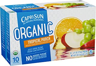 Capri Sun Organic Tropical Punch Juice Drink Blend, 10 ct - Pouches, 60.0 fl oz Box