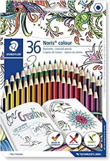 STAEDTLER 185 CD36JB Noris Colour Pencils, Adult Colouring Edition, Assorted Colours pack of 36