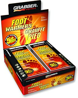 Grabber Insole Foot Warmers - Long Lasting Safe Natural Odorless Air Activated Warmers - Up to 5 Hours of Heat - 30 Pair - Medium/Large