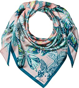Butterfly Silk Square Scarf