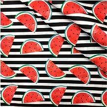 DIY 50 * 145 cm Voedselfruit Gedrukt Polyester Katoen Patchwork voor het naaien Jurk DIY Kussenhoes, voor naaien, doe-het-...