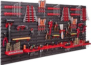 Opbergsysteem, wandrek, 158 x 78 cm, gereedschapshouders, opbergkast, extra sterke wandplaten, uitbreidbaar, werkplaatsre...