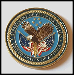 US Department of Veterans Affairs Colorized Challenge Art Coin