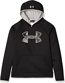 NWT Boys Under Armour M Heather Gray//Red//White Big LOGO Shirt YMD